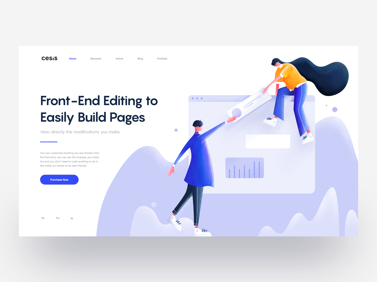 Front end editing to easily build pages   cesis wordpress theme   tranmautritam