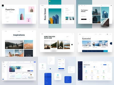 Top 9 of 2019 clean web design clean design color pastel color architecture dribbble 2019 top 9 redesign layout fashion business blog landing page tranmautritam minimal creative web design clean ui design
