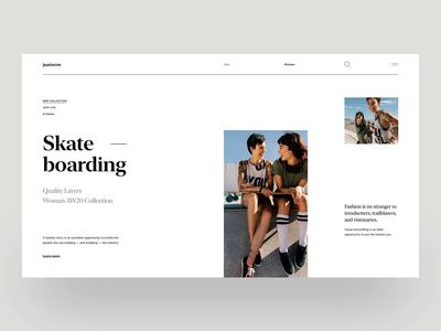 Justwow - Clean Fashion Website Concept