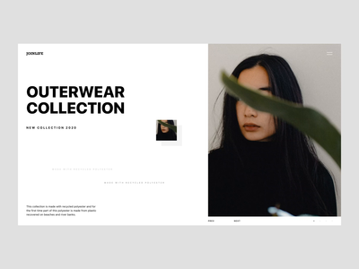 Joinlife - Hero Header for Fashion Site Concept