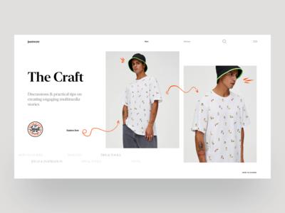 Justwow - Clean Fashion Website Concecpt
