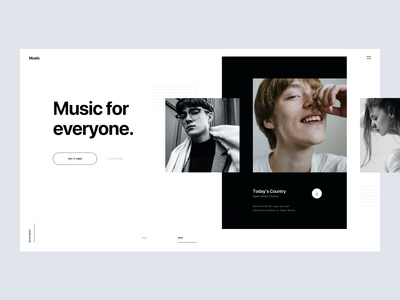 Music Website Concept