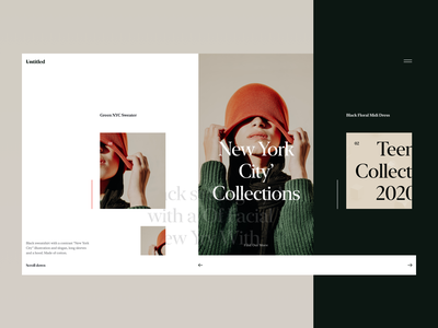 Untitled :: The Creative Fashion Website Concept ui design layout exploration grid ui guidelines ui style ui cards block fonts newyork typography black  white black girl model concept website fashion creative untitled