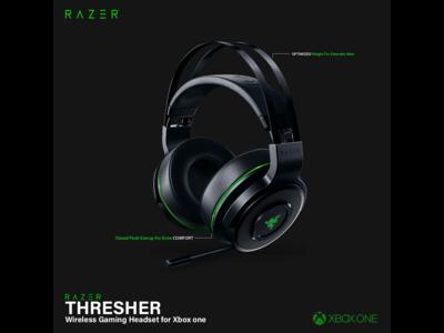 Razer Thresher wireless headset Web banner Ads