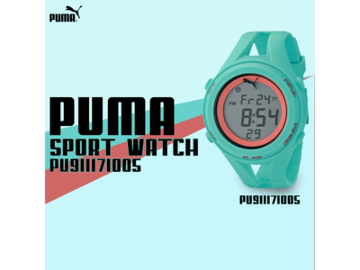Puma Sport Watch Web Banner Ads Design