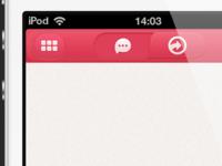 Iphone App navigation bar UI