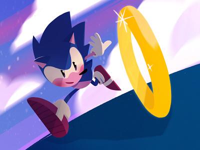 Sonic anniversary characterdesign digitalart sonic the hedgehog sonic sonic boom ipadpro procreate art illustrations