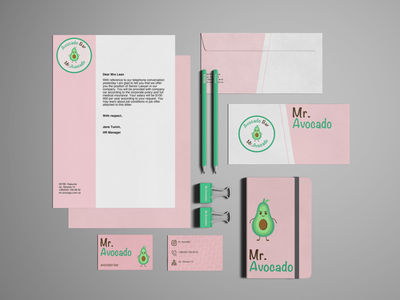 Avocado business mockup
