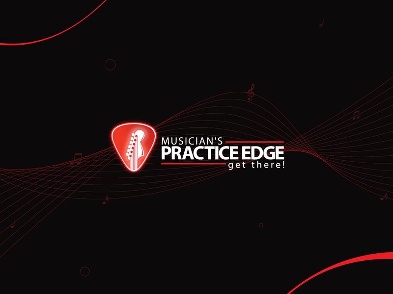 Musicians Practice Edge Branding design icon logo branding