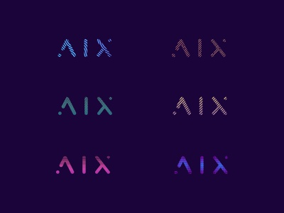 AIX Dynamic logo dynamic dynamic logo branding vector design icon logo minimal