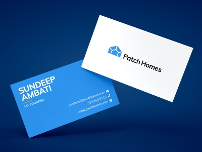 Patch Business Card professional business card print vector flat branding design business card mockup business card