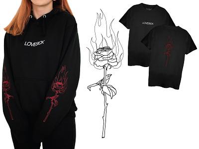 Lovesick line art linework vector illustration vector art lineart minimal apparel vector illustration apparel graphics apparel design