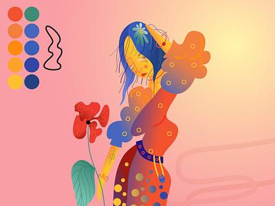 Poppy Kid color palette color colorful minimal vector drawing vector artist vector art digital art digitalart colored vector illustration vector illustration