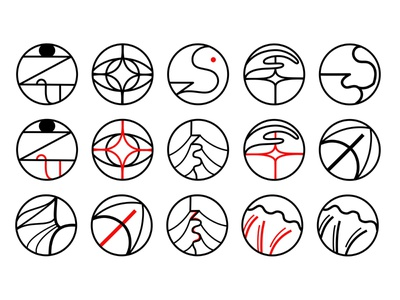 SENSES LOGOS ui ux vector illustration lineart logo designs logo design visual identity branding logo design minimal vector