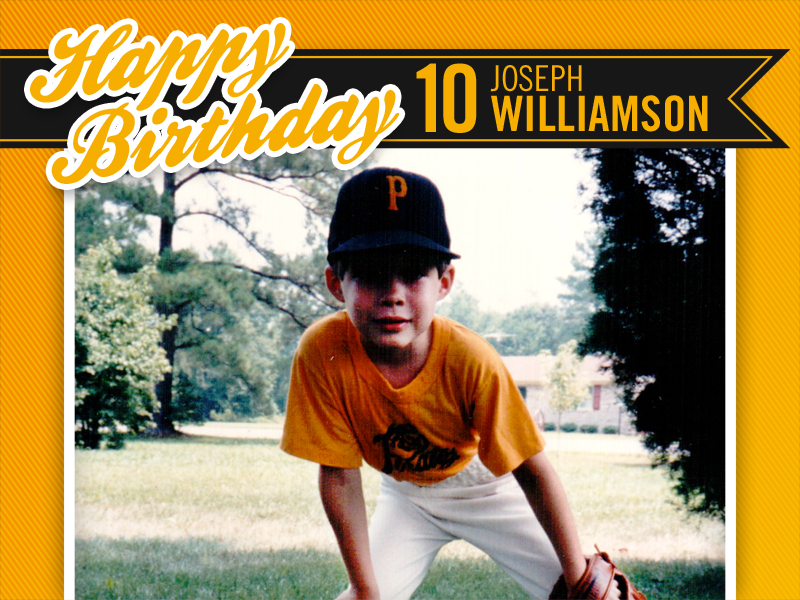 Baseball Card Birthday Invitation