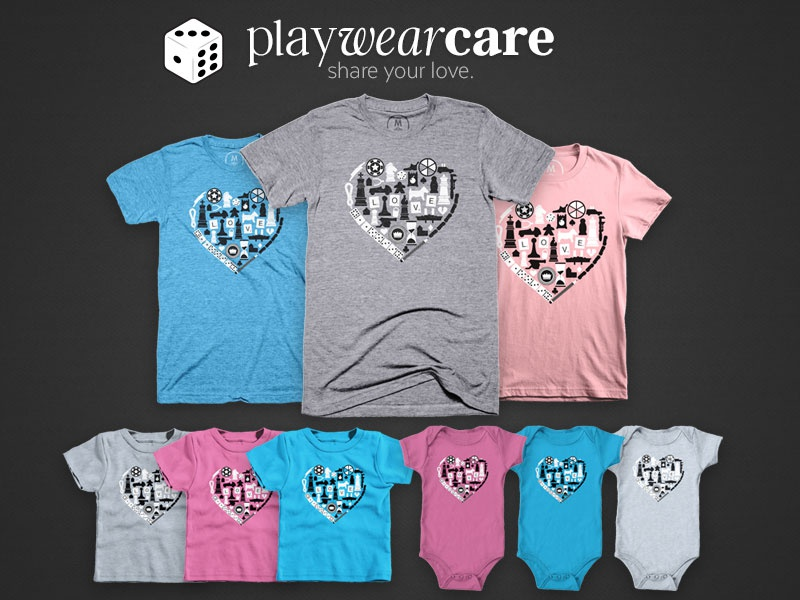 Play wear care tabletop love