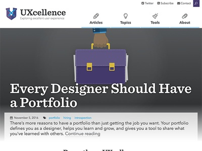 UXcellence Home craftcms blog homepage ux