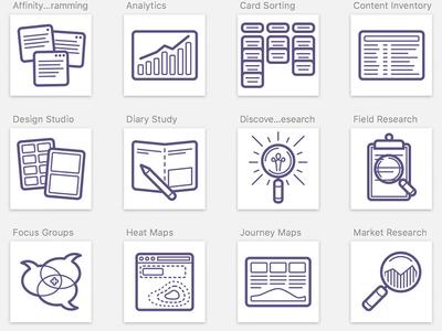 UX Tools tools icons process ux