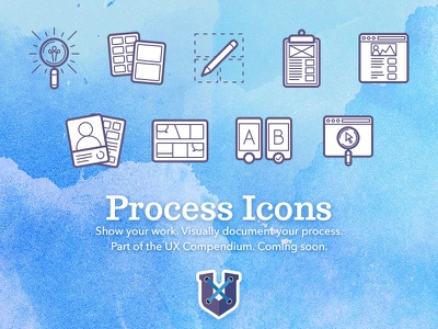 UX Process Icons icons process ux