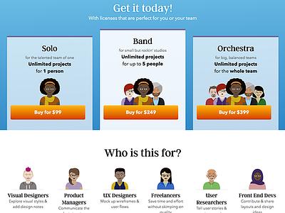 UX Compendium Pricing personas inclusion diversity illustration product pricing