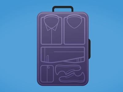 Getting Organized illustration suitcase organization blog ux