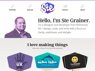 New SteGrainer.com portfolio personal site blog