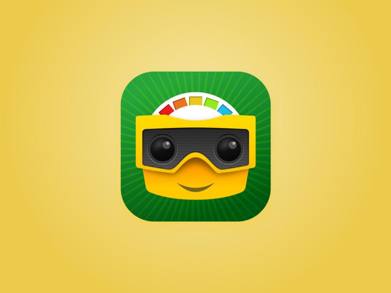 Peek-a-View Icon illustration app store icon app