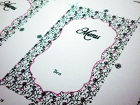 Wedding Stationary - Menu selection cards (front)