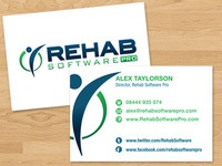 Rehab Software Pro business cards