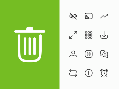 Squircle formed iconset - WIP vod icons iconset squircle