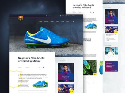 Barcelona FC - News article ui desktop neymar football advertorial boots news
