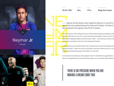 Barcelona FC -  Details details ui stats profile mobile neymar football biography