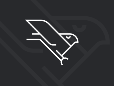 Skylark's cousin falcon talon wing badboi icon bird hawk logo