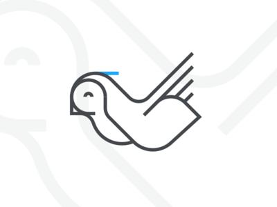 Sky Abi icon logo strokes lines bird
