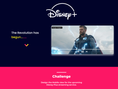 App Design for Disney Plus Streaming Service