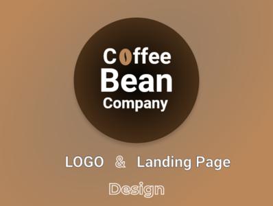 Coffee Bean Company Logo & Landing Page