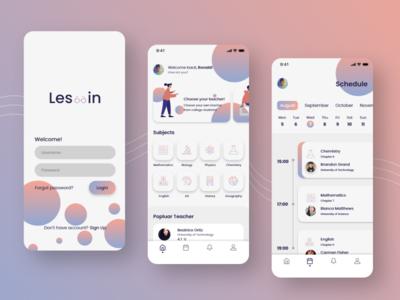 'Les-in' - Private Lesson Mobile App Exploration