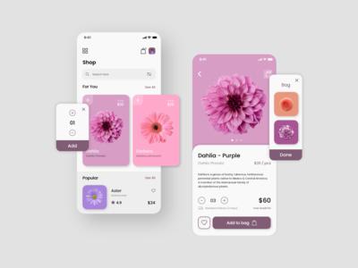 Flower Shop Mobile App Exploration