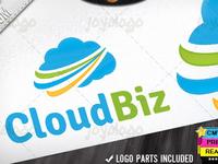 Branding Internet Company Cloud Service Logo Template