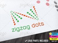 Abstract Z Letter Dots Zigzag Logo Template