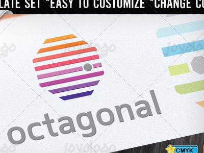 Abstract Colorful Basic Lines Octagon Logo Template