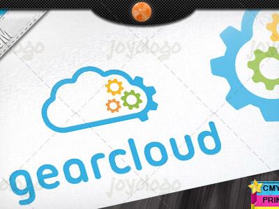 Repair Service Pixel Gears Cloud Logo Template