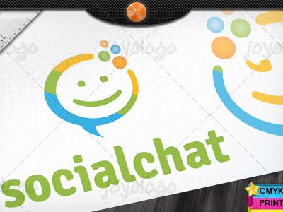 Speech Bubbles Bliss People Social Chat Logo Template