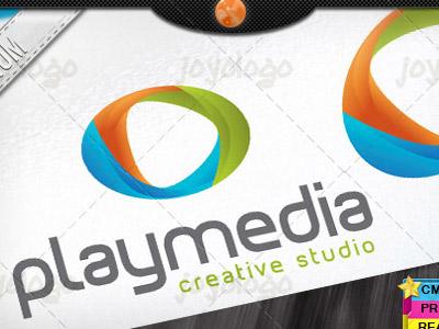 Audio Music Video Creative 3d Media Play Logo Template