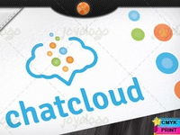 Social Media Speech Bubbles Chat Cloud Logo Template