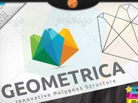 Creative Geometric 3D Structure Polygonal Logo Template