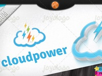 Pixel Thunders Flash Power Cloud Logo Template