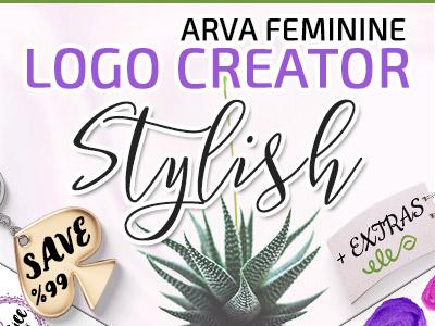 Stylish Feminine Logo Creator Branding Kit Arva