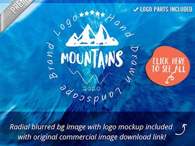 Mountain Logo Design Creative Brand   Mockup