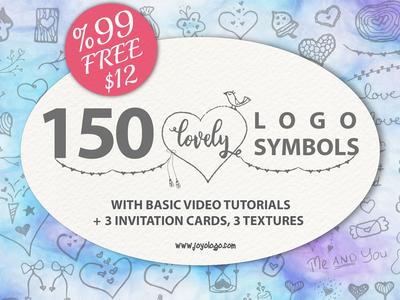 Lovely Symbols Logo Creator With Invitation Cards